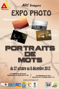 Portraits de mots, Expo Photos Rousset Novembre 2012